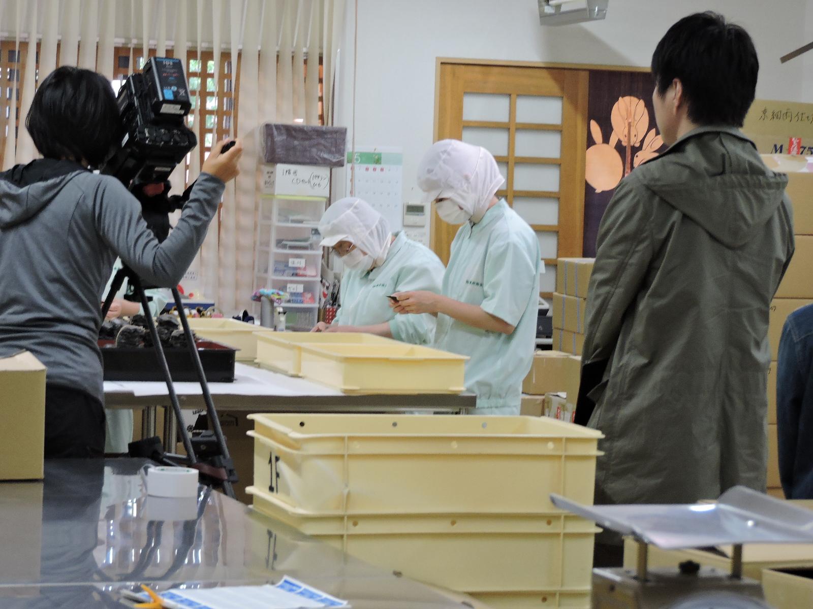NHKふくいの看板番組「ニュースザウルスふくい」の撮影がありましたっ\(~o~)\
