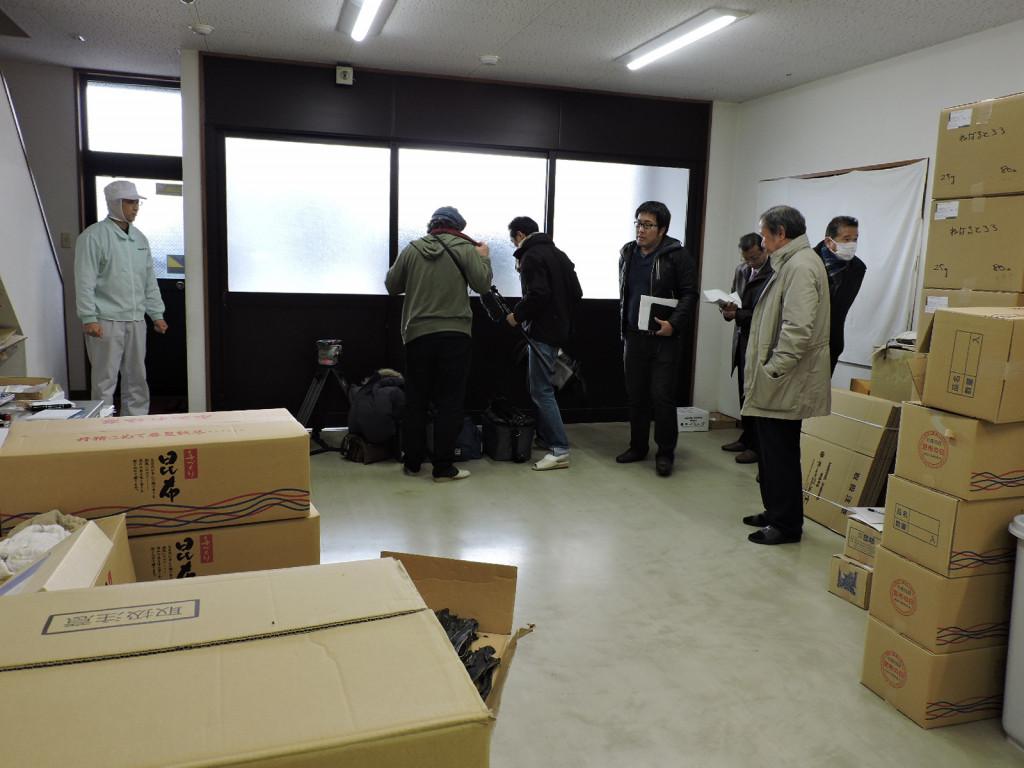 日本橋高島屋様でお取り扱いをいただく、こだわりの「逸品」を御紹介するテレビ番組の撮影が行なわれました。                    平成29年1月20日(金曜日)